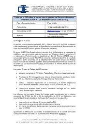 Labor de la ISO sobre la norma para la gestión de Recursos ... - IOE