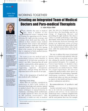 Creating an Integrated Team of Medical Doctors and Para-medical ...