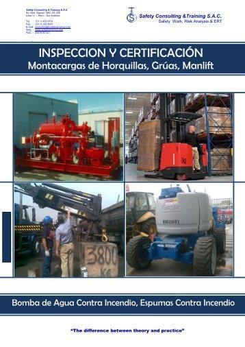 INSPECCION Y CERTIFICACIÓN - Safety Consulting & Training