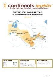 OUZBEKISTAN (KIRGHIZSTAN) - Continents Insolites