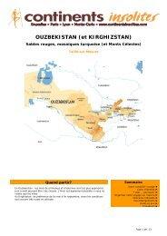 OUZBEKISTAN (et KIRGHIZSTAN) - Continents Insolites
