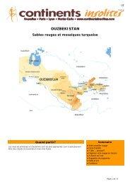 OUZBEKISTAN - Continents Insolites