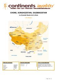CHINE, KIRGHIZSTAN, OUZBEKISTAN - Continents Insolites