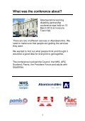Aberdeenshire LD conference report - Association for Real Change - Page 3