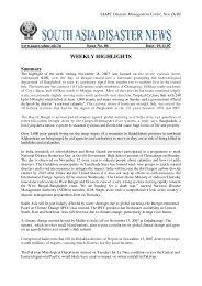 WEEKLY HIGHLIGHTS - SAARC Disaster Management Centre