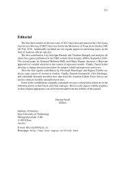Editorial - Institute of Statistics - Graz University of Technology