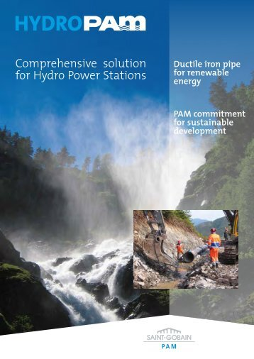 Comprehensive solution for Hydro Power Stations - saint gobain pam