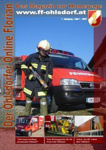 """""""Der Ohlsdorfer Online Florian"""" - Das Magazin zur Homepage"""
