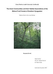 The Avian Communities and their Habitat Associations of - Institut für ...