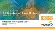 GC-Jahrestagung   Annual Meeting - Gesundheits-Cluster