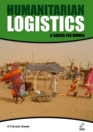 Humanitarian Logistics - A Career for Women - WISE - Uk.net