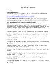 Pam Schweitzer Publications Publications Most recent publications ...
