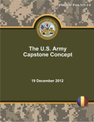 US Army Capstone Concept - Defense Innovation Marketplace