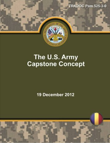 US Army Capstone Concept - Defense Innovation Marketplace