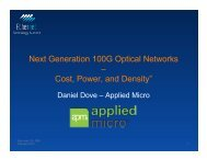 Next Generation 100G Optical Networks - Ethernet Technology ...