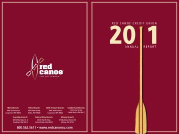 2011 Annual Report - Red Canoe Credit Union