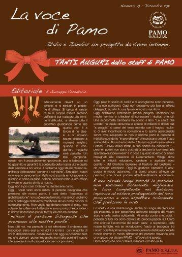 Dicembre 2011 - Numero 10 - PAMO onlus