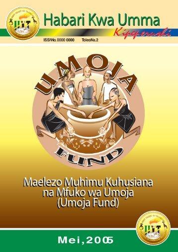Makala ya Habari kwa Umma - The Unit Trust of Tanzania (UTT)