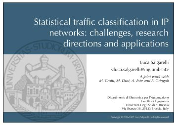 Statistical traffic classification in IP networks: challenges, research ...