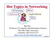 Hot Topics in Networking - Department of Computer Science ...