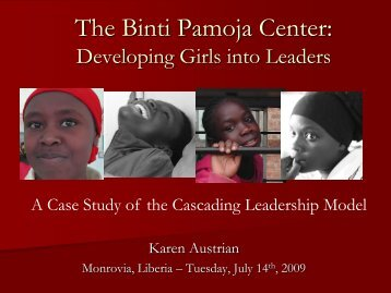 The Binti Pamoja Center: Developing girls into leaders—A case ...
