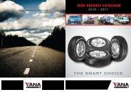 YANA PRODUCT CATALOGUE 2010 - 2011 THE SMART CHOICE