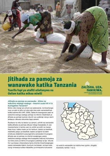 Jitihada za pamoja za wanawake katika Tanzania