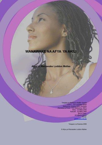 Wanawake na Afya ya Akili - Ishar Multicultural Women's Health ...