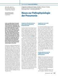 Neues zur Pathophysiologie der Pneumonie - Erkan Arslan