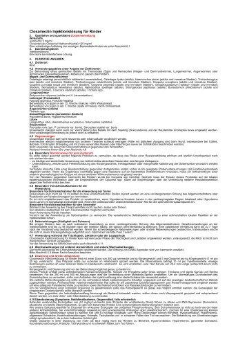 Fachinformation - PRO ZOON Pharmazeutika
