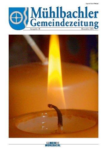 Gemeindezeitung Nr. 30 vom Dezember 2011 - Mühlbachl - Land Tirol