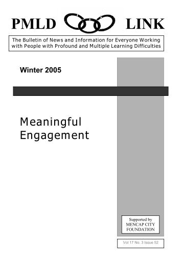 PMLD Link Winter 2005 2nd Ed 06