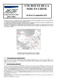 UNE ROUTE DE LA SOIE EN CHINE du 06 au 21 ... - les + Atscaf