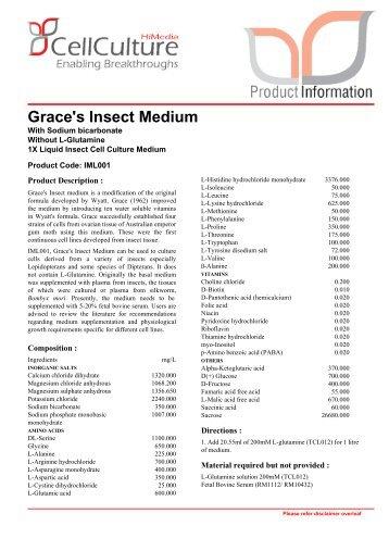 Grace's Insect Medium - Himedia Laboratories