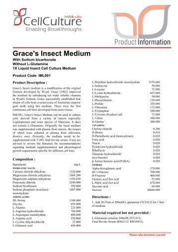 Grace's Insect Medium - Himedia Laboratories