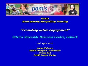 PAMIS Story telling presentation