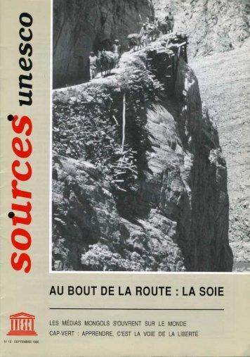Au bout de la route, la soie; Unesco sources ... - unesdoc - Unesco