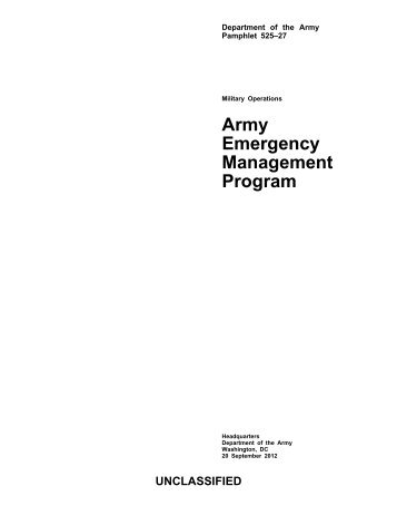 Army Emergency Management Program - Federation of American ...