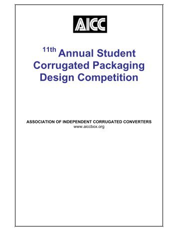 11th Annual Student Corrugated Packaging Design Competition