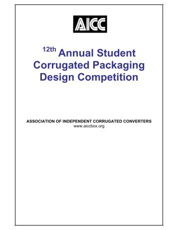 12th Annual Student Corrugated Packaging Design Competition