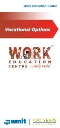 Work Education Centre Vocational Options Brochure - NMIT