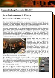 Pressemitteilung / Newsletter 22.8.2007 Harter ... - auto-rennsport.de