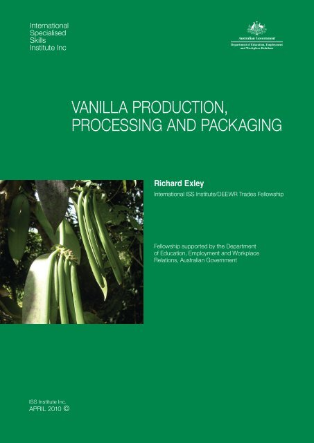 vanilla production, processing and packaging - International ...