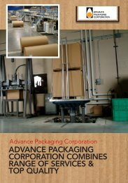 advance packaging corporation combines range - Business Review ...