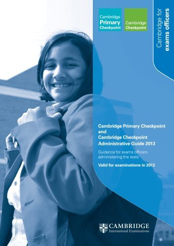 Checkpoint Admin Guide 2013.indd - Cambridge International ...