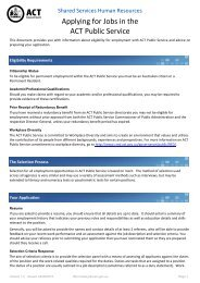 Applying for Jobs in the ACT Public Service - ACT Government Jobs