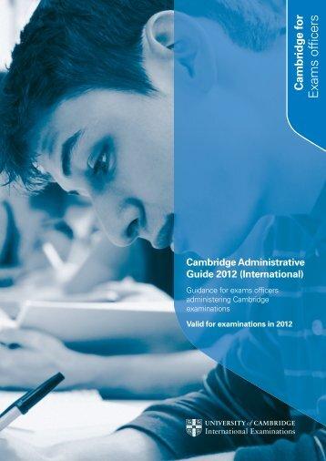 International - Cambridge International Examinations