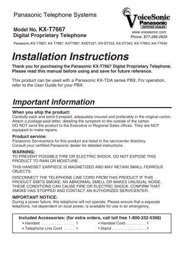 operating instructions kx tg6583 panasonic rh yumpu com Panasonic Kx Instruction Manual 4021 Panasonic Kx E4000 Manual