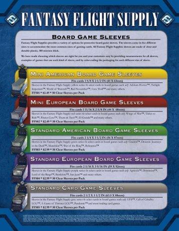 Board Game Sleeves - Fantasy Flight Games