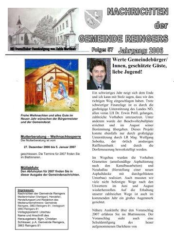 Jänner 2007 - Gemeinde Reingers